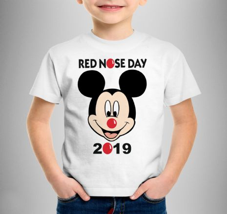 MICKEY MOUSE RED NOSE DAY T-SHIRT